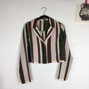 Tops - STRIPED BUTTON UP SHIRT retro inspired